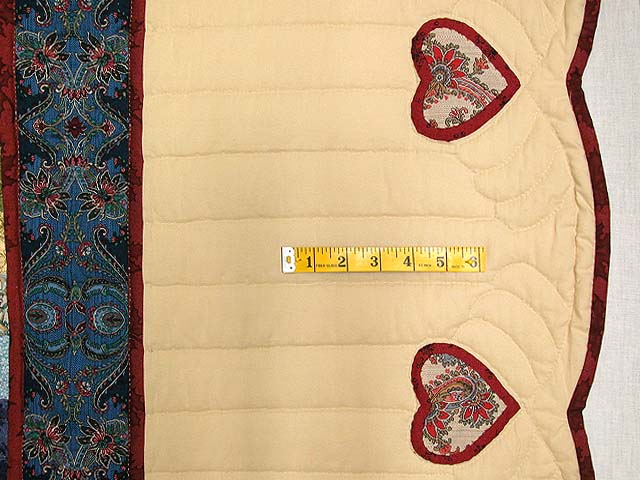 King Blue Rose Tan Sweetheart Sunshine and Shadow Quilt Photo 7