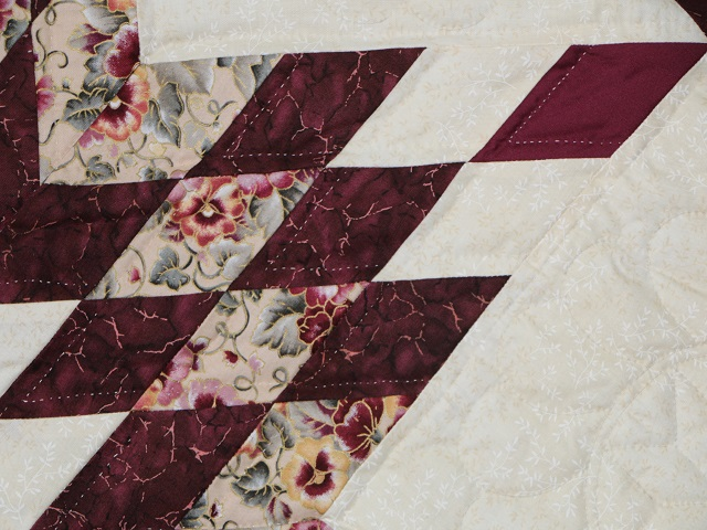 Wine Burgundy Cream Lone Star Log Cabin Photo 4