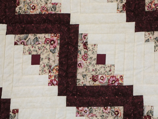 Wine Burgundy Cream Lone Star Log Cabin Photo 6