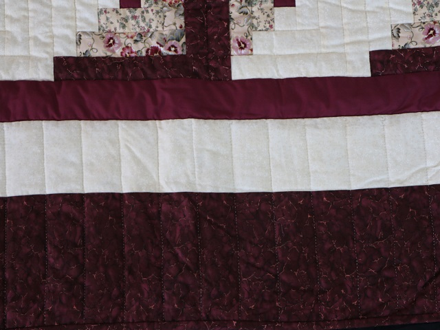 Wine Burgundy Cream Lone Star Log Cabin Photo 7