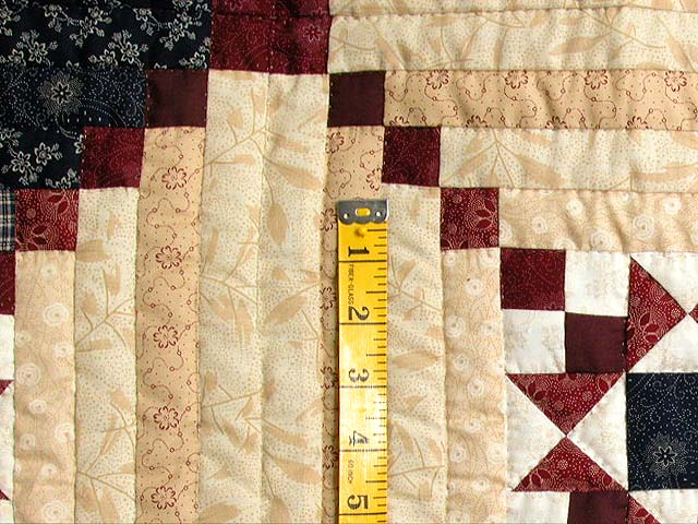King Navy Burgundy Tans Stars in the Cabin Quilt Photo 5