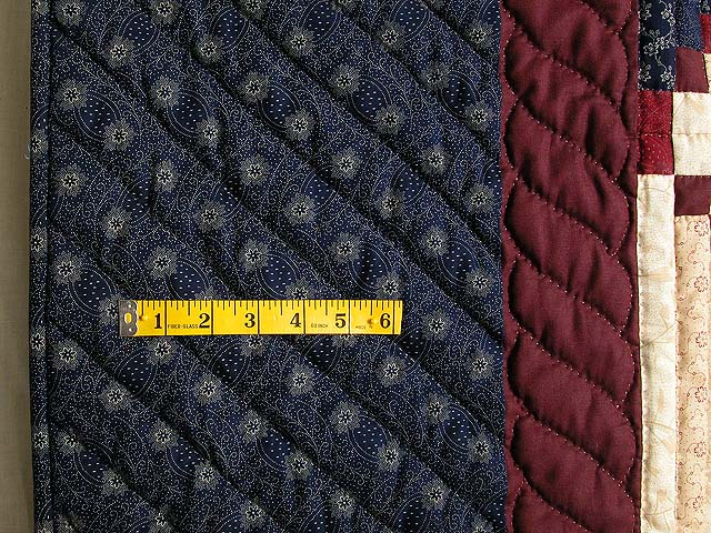 King Navy Burgundy Tans Stars in the Cabin Quilt Photo 7
