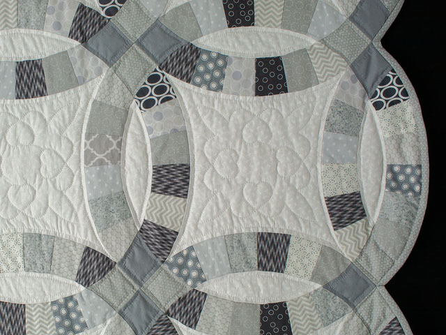 KING Soft Gray, Slate, Smoke on White 
