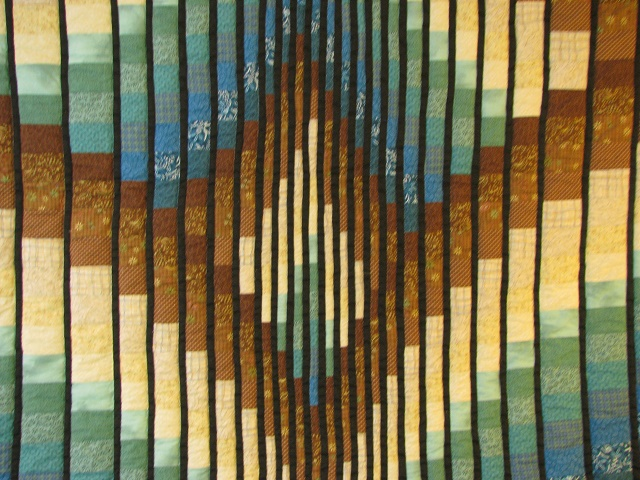 Teal and Brown Rhapsody Song Bargello Quilt Photo 3