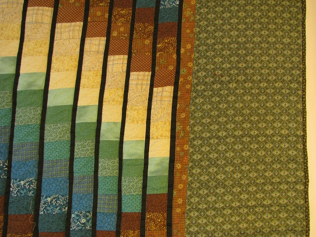 Teal and Brown Rhapsody Song Bargello Quilt Photo 4