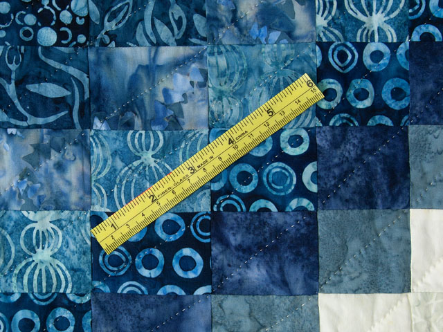 Bargello Wave in Striking blues and greens with neutrals