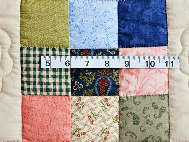 Green and Multicolor Hearts and Nine Patch Quilt Photo 6