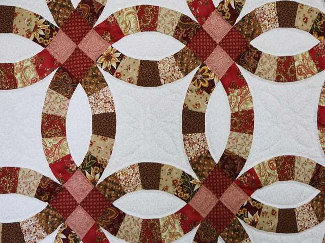 King Double Wedding Ring Quilt Photo 5
