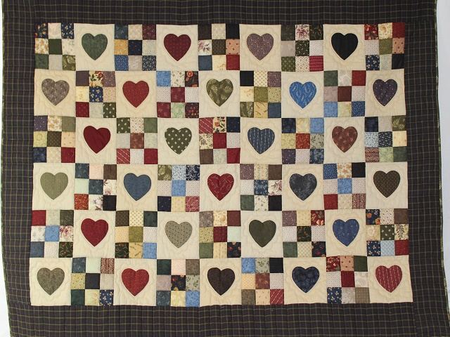 Hearts and Nine Patch Throw Photo 1