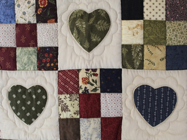 Hearts and Nine Patch Throw Photo 2