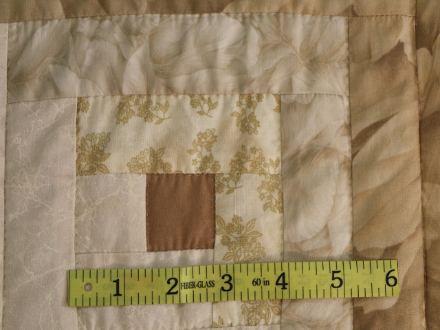 Beige Lone Star Log Cabin Quilt Photo 6