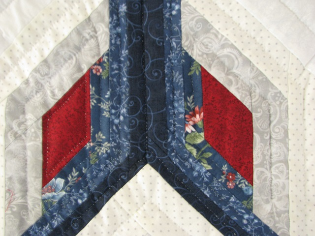 Blue and Red Starburst Quilt Photo 5