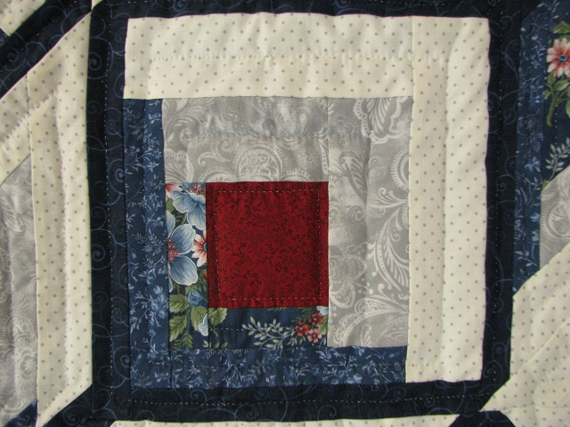 Blue and Red Starburst Quilt Photo 6