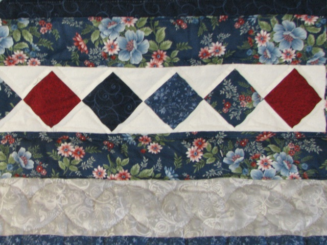 Blue and Red Starburst Quilt Photo 7
