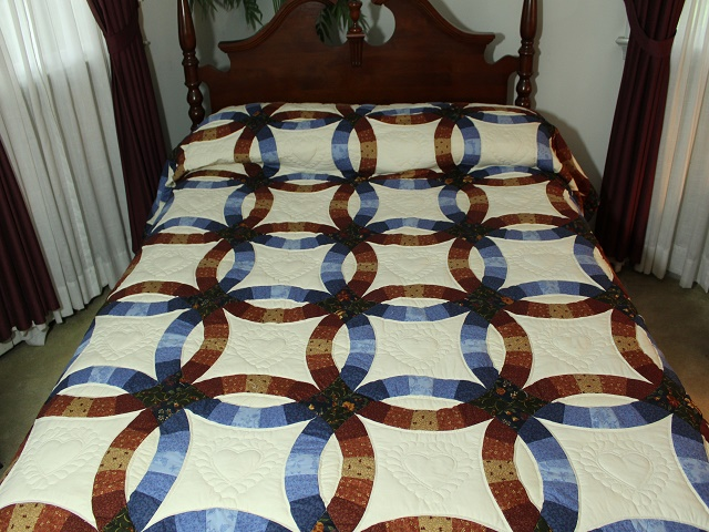 Moda Double Wedding Ring Quilt Photo 1