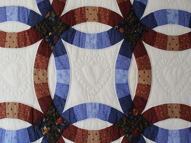 Moda Double Wedding Ring Quilt Photo 3
