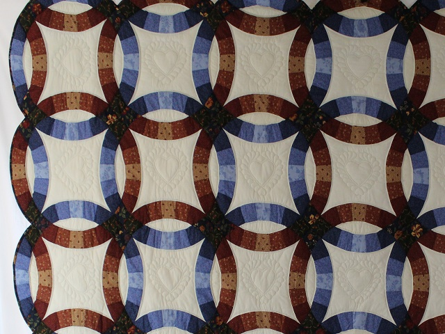 Moda Double Wedding Ring Quilt Photo 4
