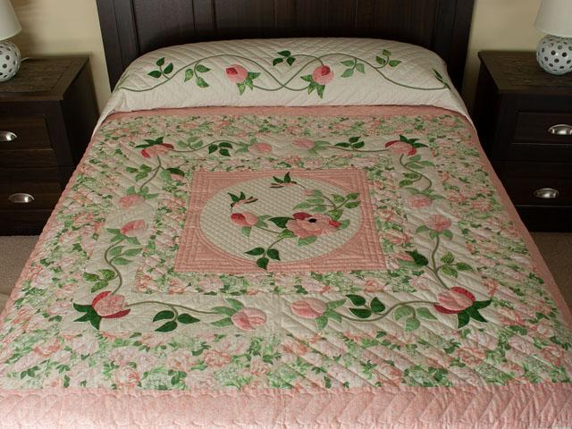 Queen Size Bed- C J Horst Original Design I Promised You a Rose Garden Photo 1