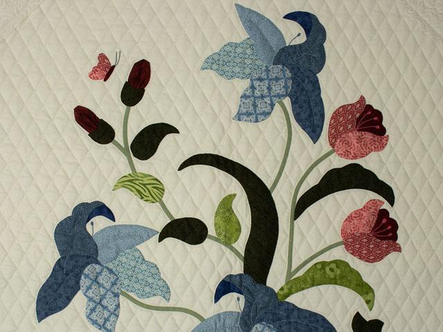 C J Horst Original Design Petal Showcase QUEEN Size Quilt Photo 4