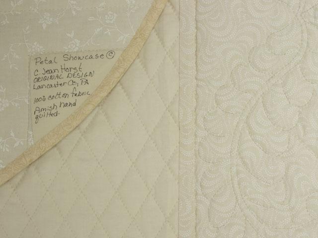 C J Horst Original Design Petal Showcase QUEEN Size Quilt Photo 6