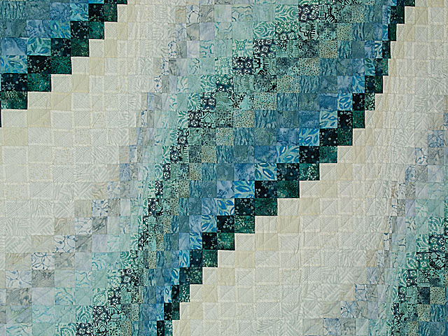 Bargello Wave in Striking Blues