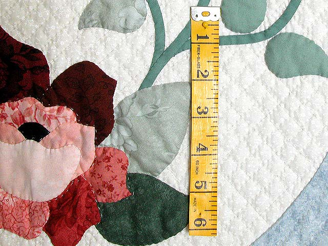King Pastel Blue and Peach I Promised You a Rose Garden Quilt Photo 6
