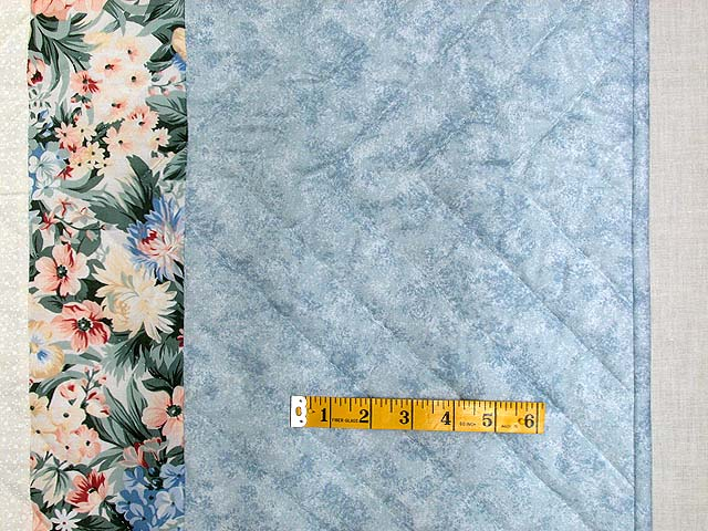 King Pastel Blue and Peach I Promised You a Rose Garden Quilt Photo 7