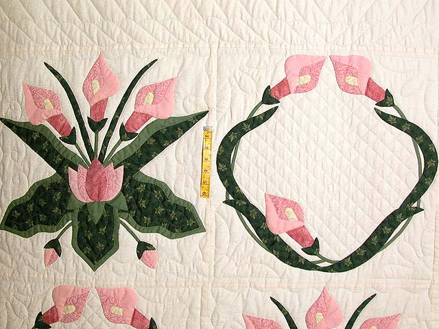 Rose and Green Country Lily Quilt Photo 4