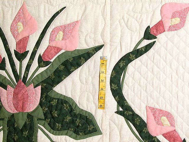 Rose and Green Country Lily Quilt Photo 5