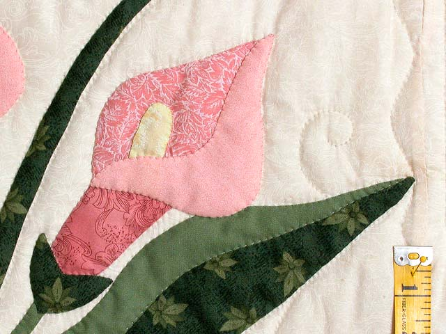 Rose and Green Country Lily Quilt Photo 6