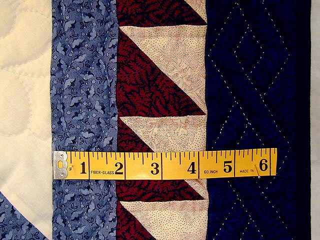Brick Reds and Blue Broken Star Quilt Photo 5