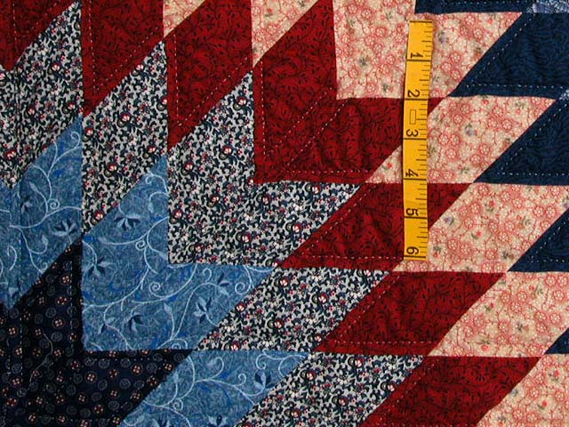 Navy and Burgundy Star of Bethlehem Quilt Photo 5