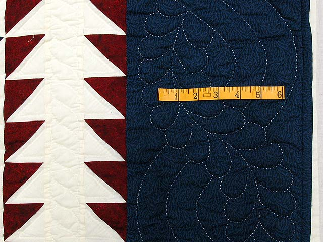 Navy and Burgundy Star of Bethlehem Quilt Photo 7