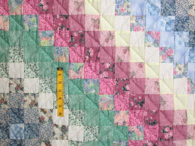 Pastel Trip Around the World Quilt Photo 4