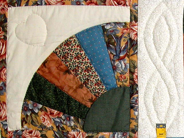 Blue and Multicolor Patchwork Sampler Quilt Photo 5