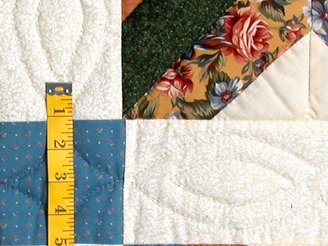 Blue and Multicolor Patchwork Sampler Quilt Photo 6