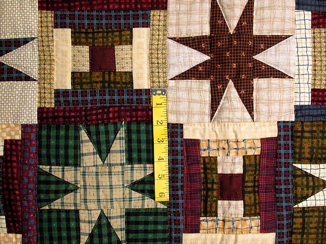 Plaid Navy and Multi Courthouse Stars Wall Hanging Photo 3