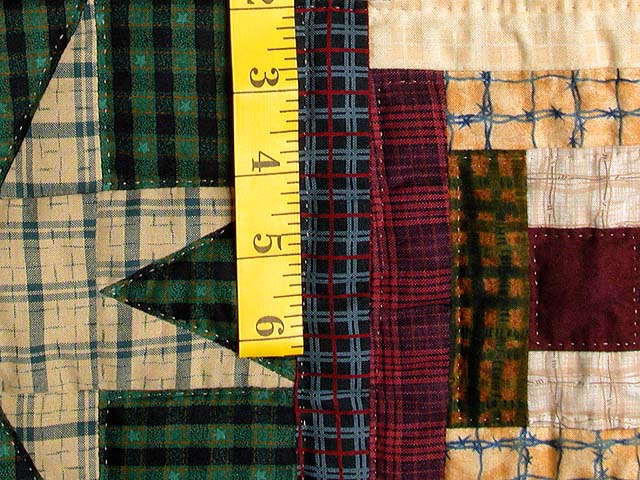 Plaid Navy and Multi Courthouse Stars Wall Hanging Photo 5