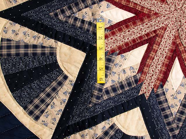 Navy and Wine Octagon Star Table Throw Photo 3