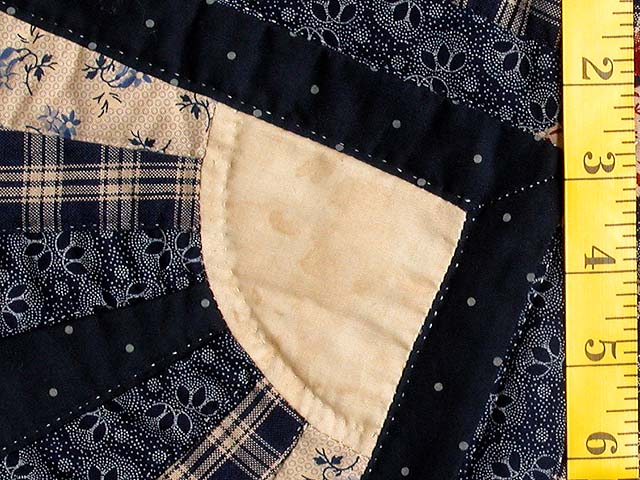 Navy and Wine Octagon Star Table Throw Photo 5