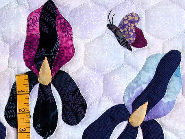 Lavender Iris Applique Wall Hanging Photo 4