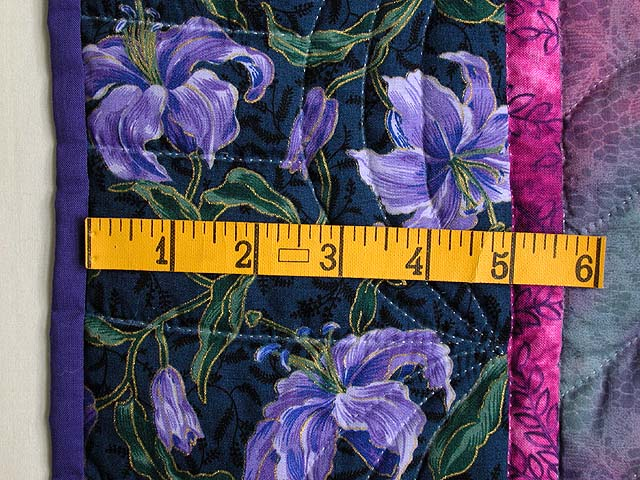 Lavender Iris Applique Wall Hanging Photo 6