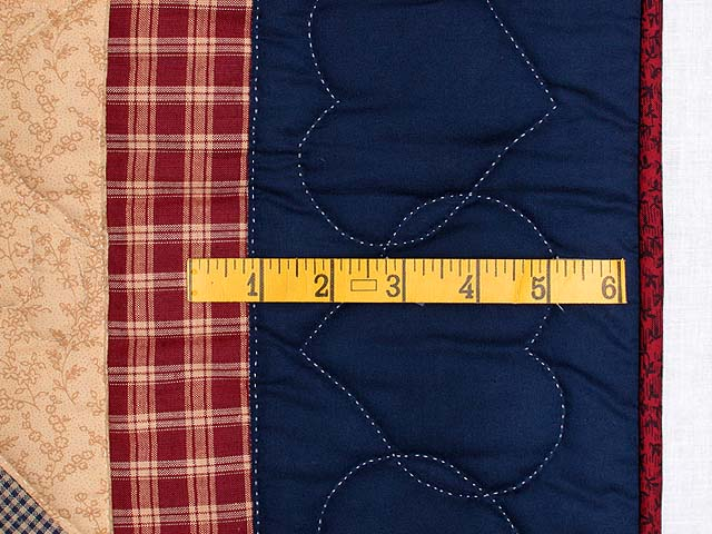 Plaid Navy Red and Tan Lone Star Wall Hanging Photo 5