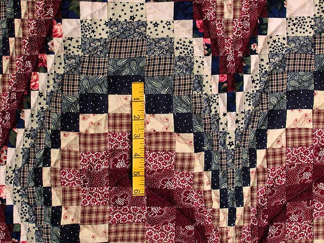 Navy and Burgundy Bargello Heart Wall Hanging Photo 3