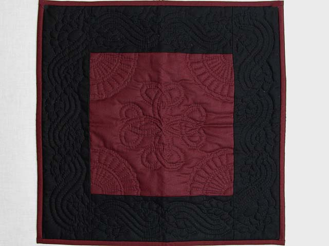 Miniature Black and Wine Amish Quilt Photo 1
