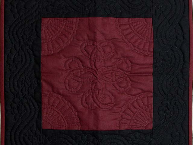 Miniature Black and Wine Amish Quilt Photo 2