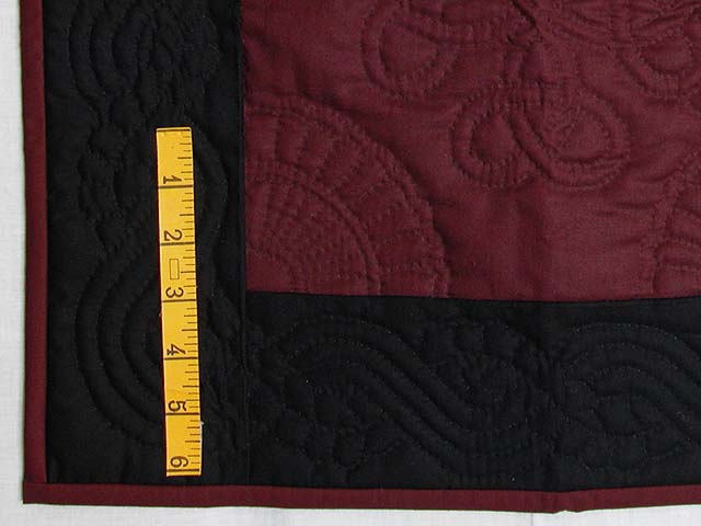 Miniature Black and Wine Amish Quilt Photo 3