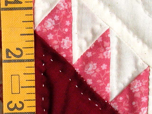 Burgundy Feathered Edge Star Crib Quilt Photo 4