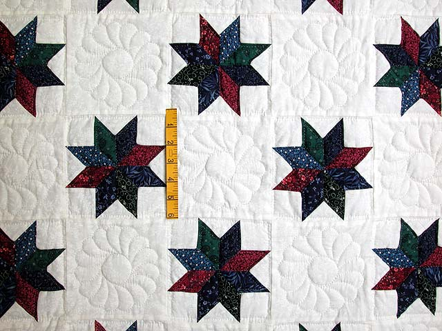 Navy and Multicolor Eight Point Stars Throw Photo 3