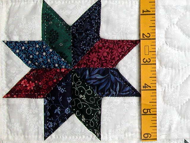 Navy and Multicolor Eight Point Stars Throw Photo 4